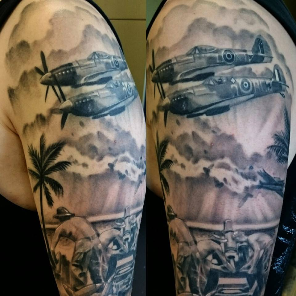 world war 2 tattoo