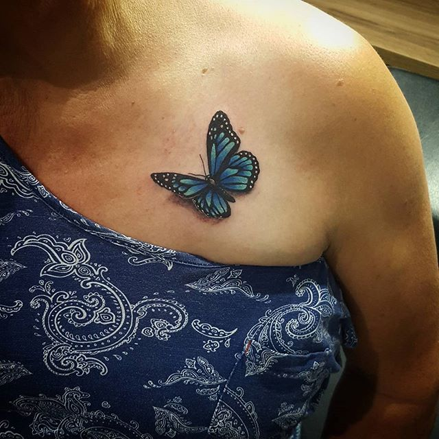 A @chrystal__leigh special!!! #tattoostudio #tattoos #tattoo #tattooart #tattooartist #artistic #art #create #creative #artistic #studio #brisbanetattoos #bulimba #inkembassy #inked #ink #butterfly #butterflytattoo #monarchbutterfly