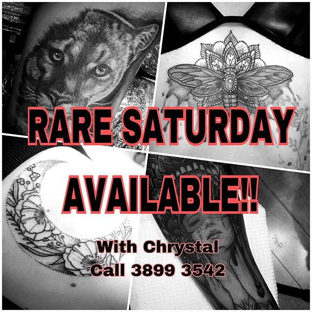 @chrystal__leigh has a very rare free Saturday tomorrow due to a last minute cancellation, so get it quick! Big and small pieces welcome. Contact us on 3899 3542 or inkembassy@gmail.com #tattoo #bulimbatattoo #bulimba #brisbanetattoo #tattooartist #inkembassy