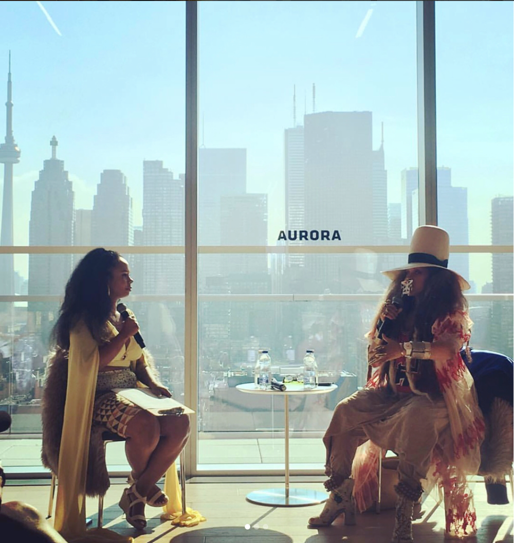 Interviewing Erykah Badu at AfroChic Cultural Arts Festival 2018
