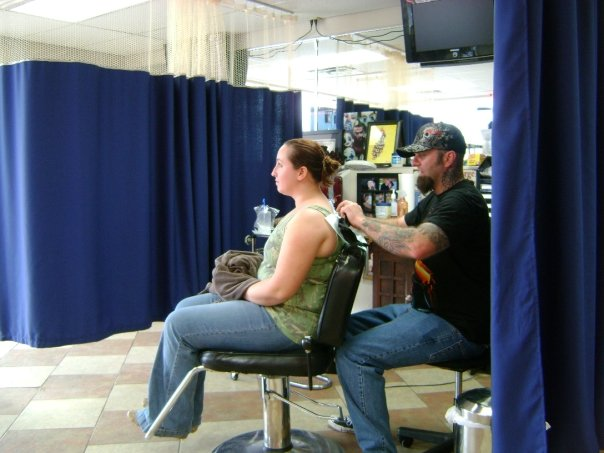 March of 2009, when I got a tattoo of my daughter's name on a trip to Branson, MO.