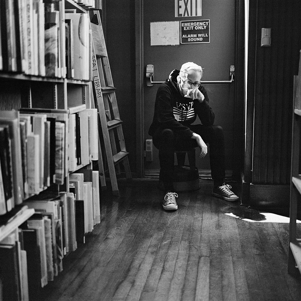 Joel Carter at SFAI library.
