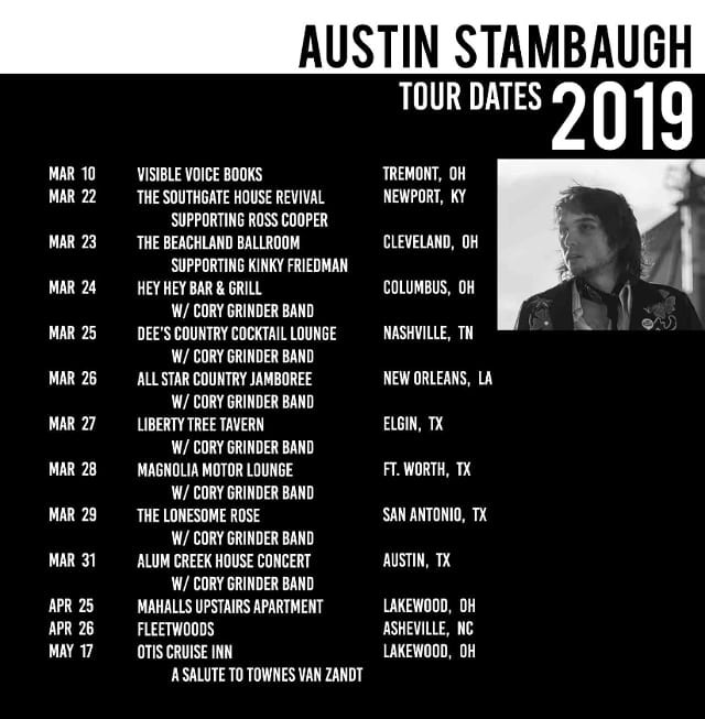 Hey folks, some exciting spring dates... please share and stop on by! I'll have some new material out soon. I'm hopping on the Cory Grinder Band tour as their geetar man. Figured I'd make this as a good catch all! Hope to see everyone soon!! Can't wait to upload real photos of scenery and foliage.. cheers!!