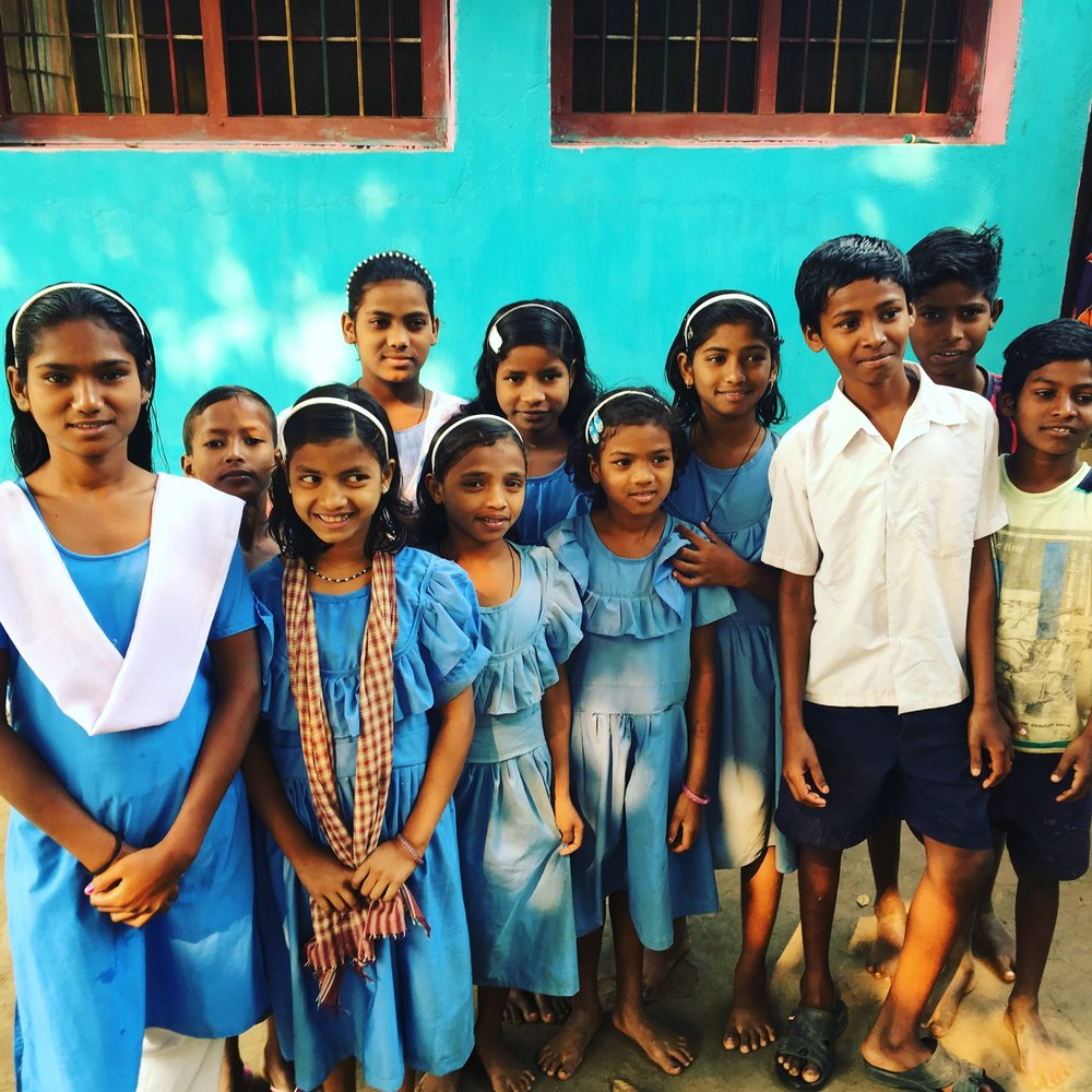 Few of the children from Children's Home