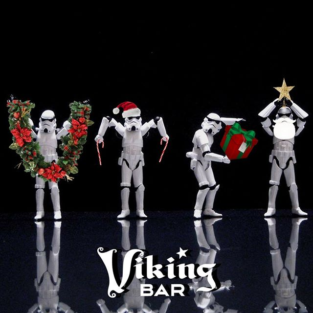 Starting at 8 PM at the #VikingBar, it's A Little Too Short To Be Stormtroopers singing your holiday favorites with Steamhand Meatroller - @rubenband's alter-ego-electronic band. Come on down to hear their holiday tradition of tasteful merry medleys.  #vikingbarmusic #alittletooshorttobestormtroopers #holidaymusic #fridaynightfun #rubenband #holidayfun #mplsmusic #minneapolis
