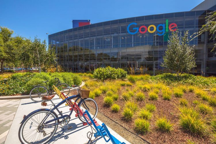 Google's global headquarters in Mountain View, California. Photo credit:  bennymarty / 123RF