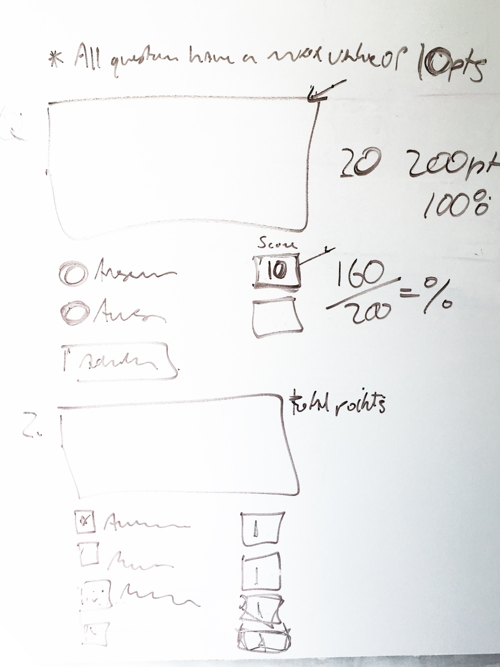 Developing 'Questions' config sketch