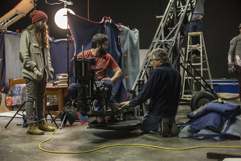 Paul and Bill Pivetta prepping the Red and Crane for the second scene.