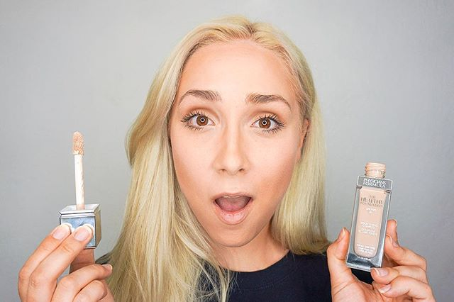 ❗️❗️Foundation Review❗️❗️ we got a sneak peak at The Healthy Foundation by @physiciansformula and we are in love 😍😍😍 Check out @thalittlelion video & thoughts on the blog now! #linkinbio👆