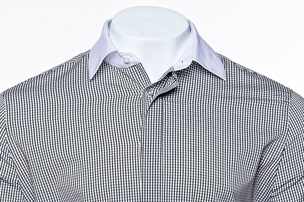 Classic Collar - Black/White Plaid 100's 2-ply Egyptian Cotton Broadcloth