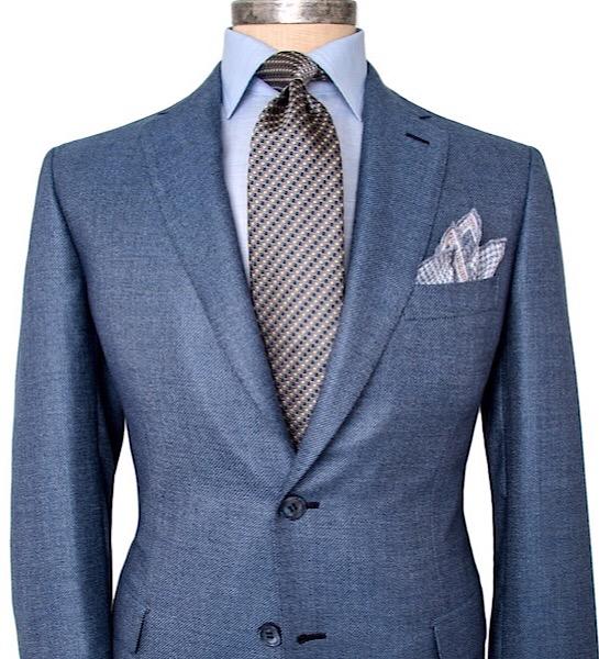 All-Seasons 19' - Cobalt Blue Notch Lapel, 100% Worsted Wool, 260 grs