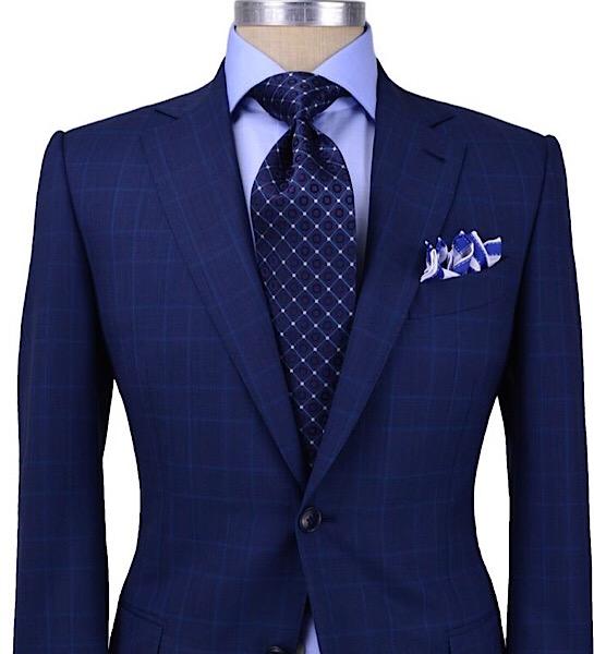 All-Seasons 19' - Midnight Blue Notch Lapel, 100% Worsted Wool, 260 grs