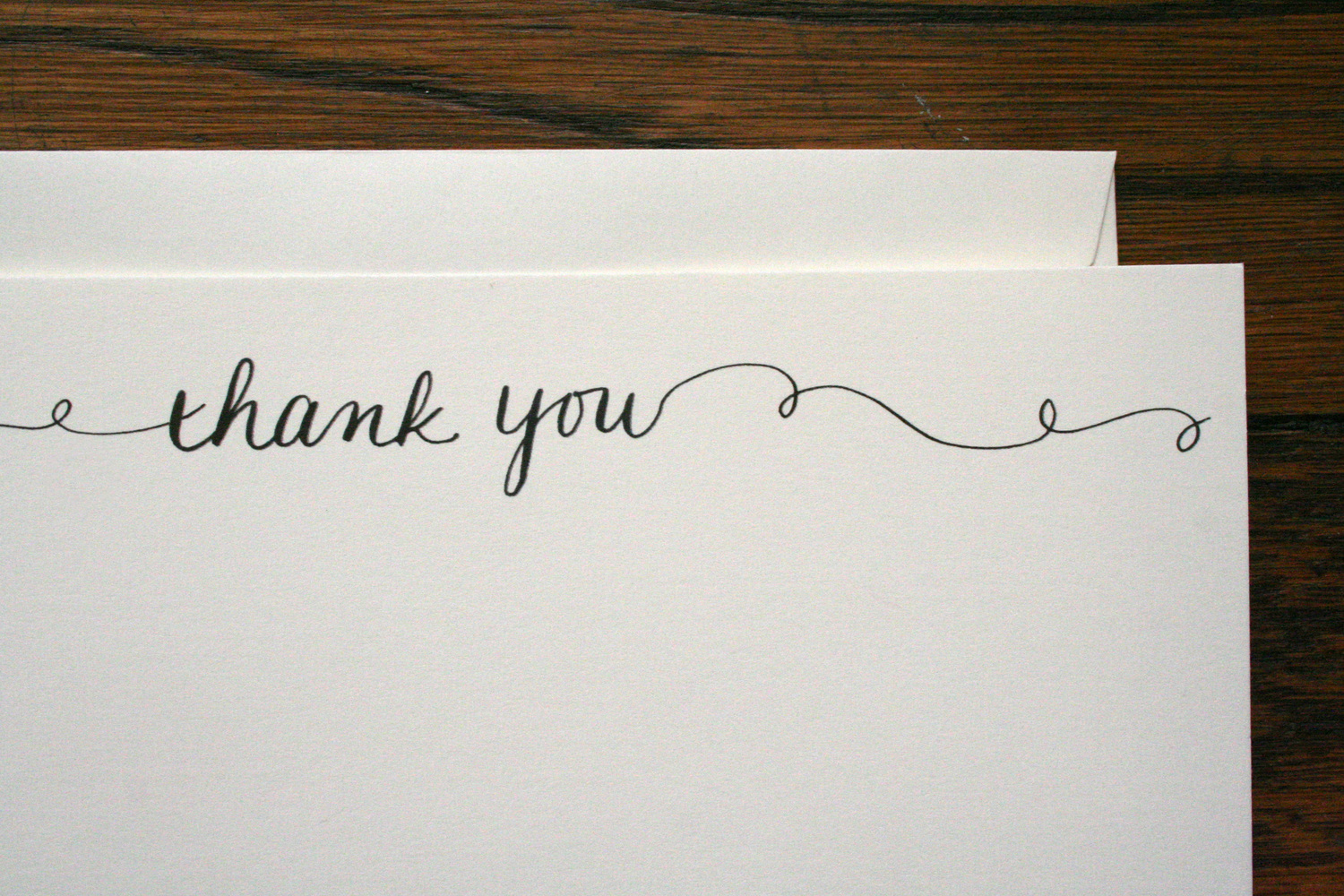 thank you stationery set of 12 cards envelopes paper by jlee