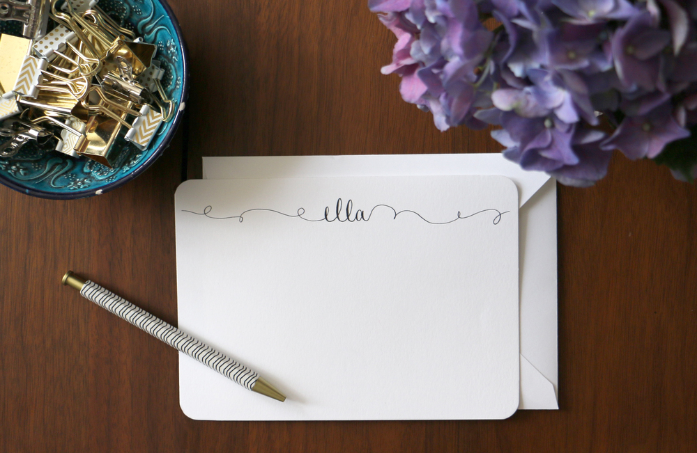 Custom Name Calligraphy Stationery