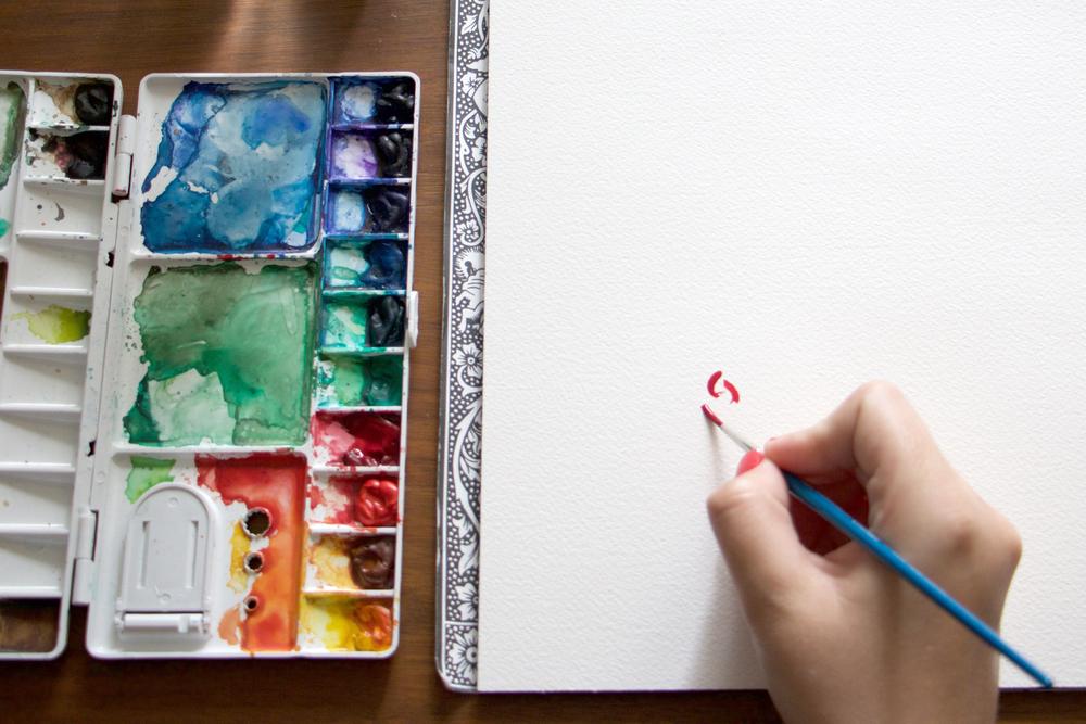 Paper by JLee: Watercolor Rose Tutorial