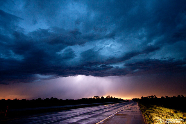 Nighttime thunderstorm inspiration.  Photo credit  here .