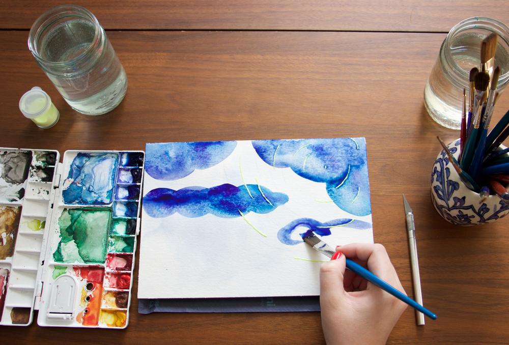 Paper by JLee: Night Sky Watercolor Tutorial