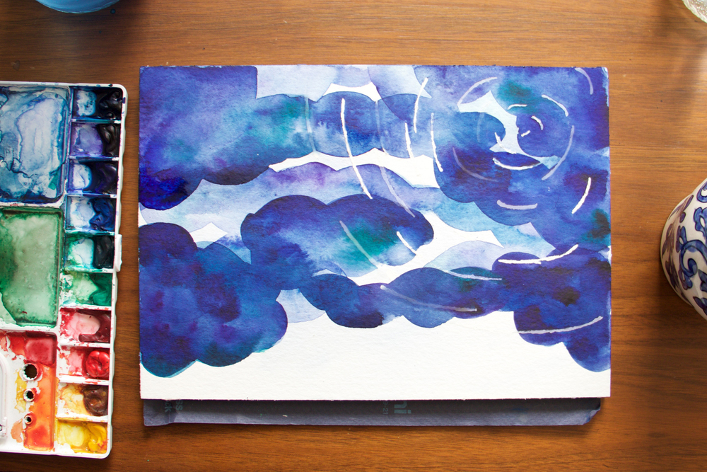 Paper by JLee: Night Sky Watercolor Tutorial