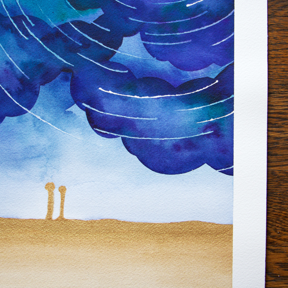 Paper by JLee: Night Sky Watercolor