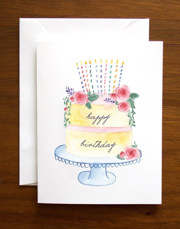 Happy Birthday Stationery Set Of 6 Folded Cards Envelopes