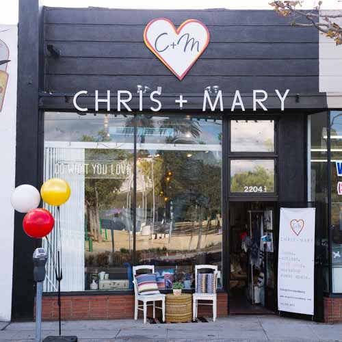 Chris + Mary storefront. Photo Credit:  Cortnee Loren Brown