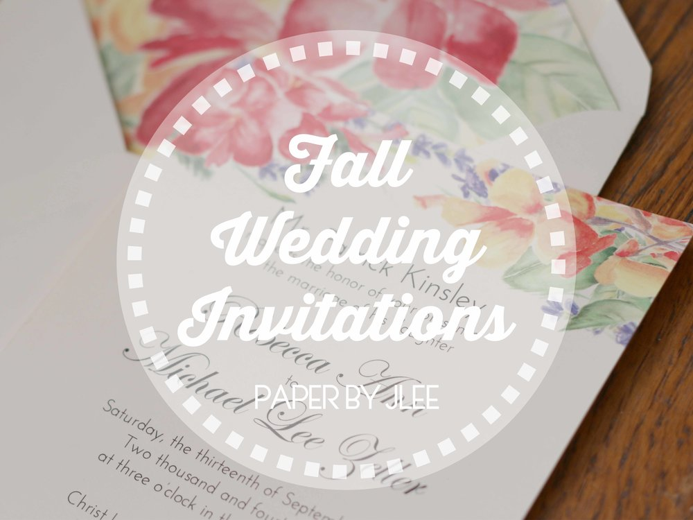 Paper by JLee: Pennsylvania Fall Wedding Invitations