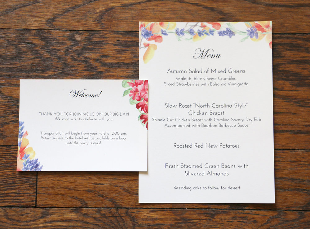 Paper by JLee: Pennsylvania Wedding Invitation Suite