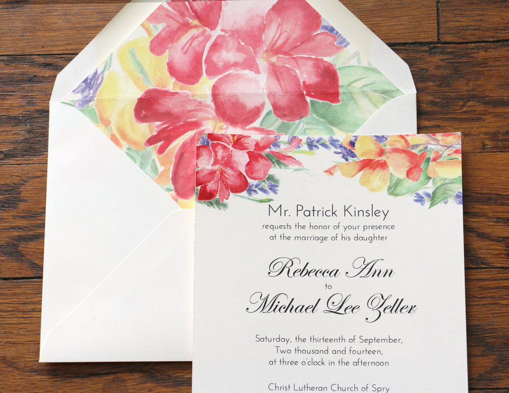 Paper by JLee: Pennsylvania Wedding Invitation