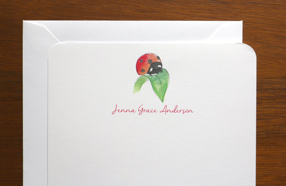 Customized Ladybug Stationery
