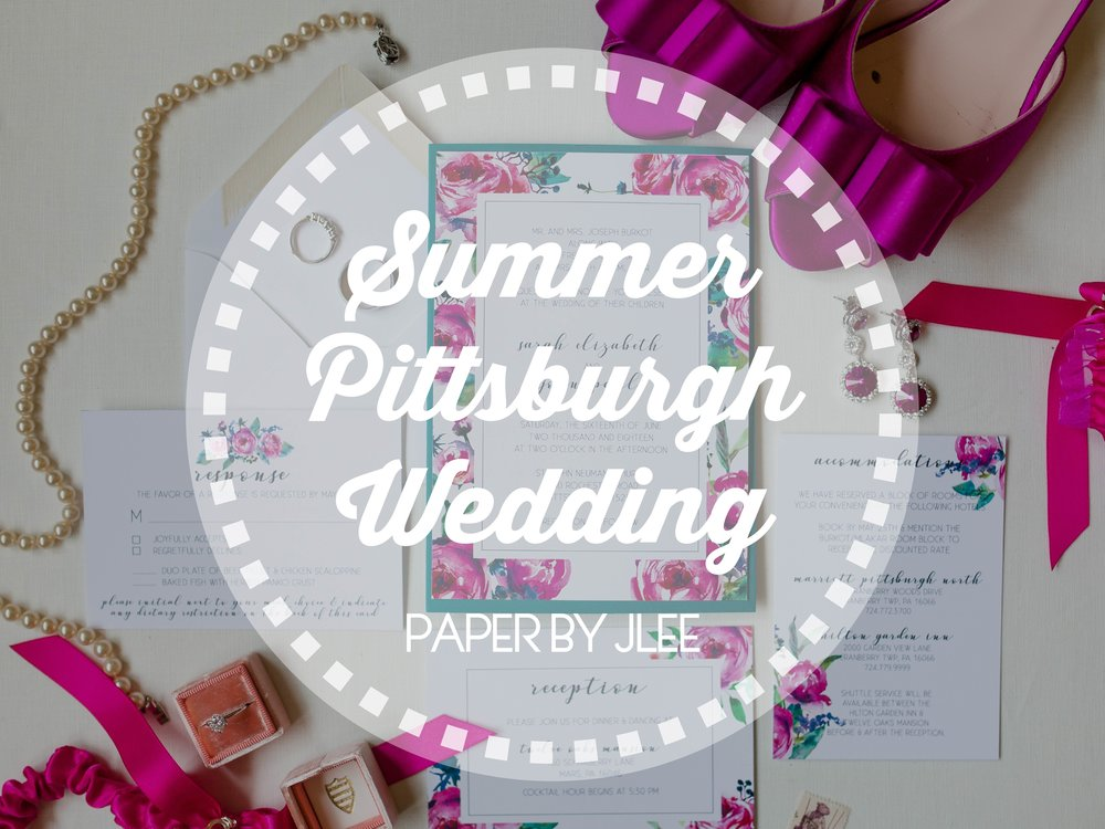 Summer Pittsburgh Wedding Invitations - Paper by JLee