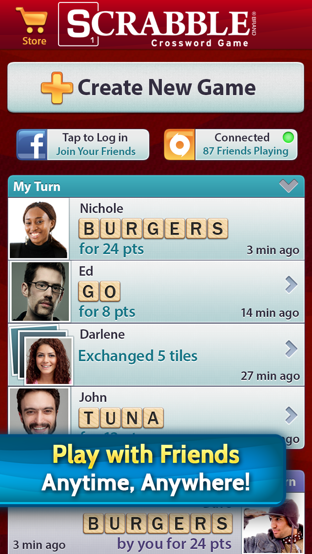Scrabble (iOS) - Screenshot