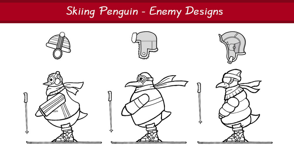 Skiing Penguin - Enemy Designs