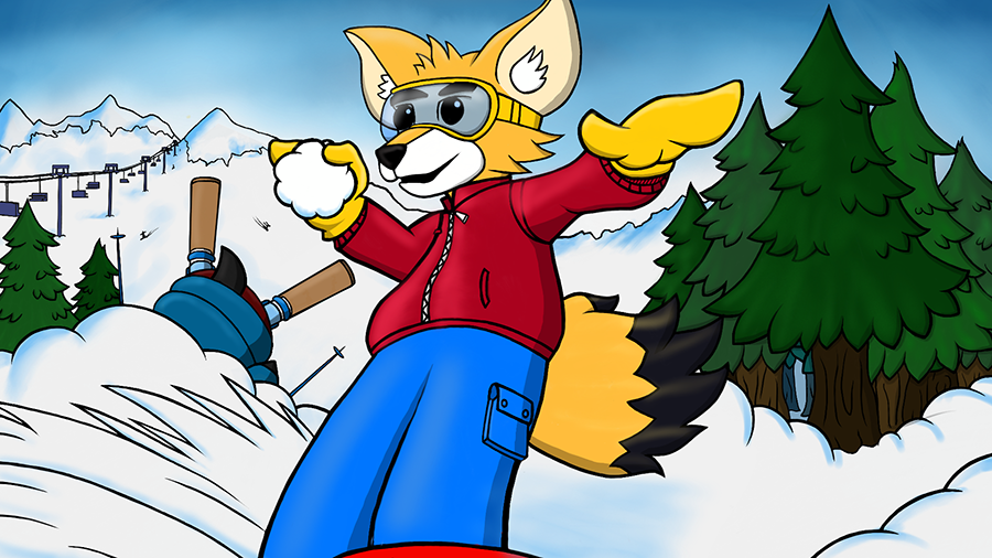 Snowboarding Fox - Title Screen