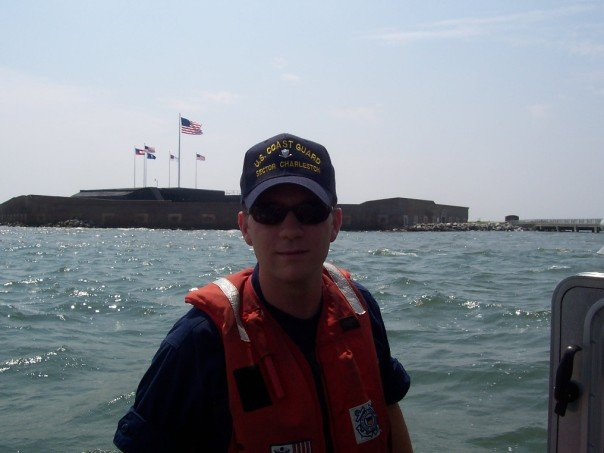 Ryan Kilgo, then a cadet at The Citadel and a Reserve MST3, underway off of Ft Sumter in Charleston, SC.