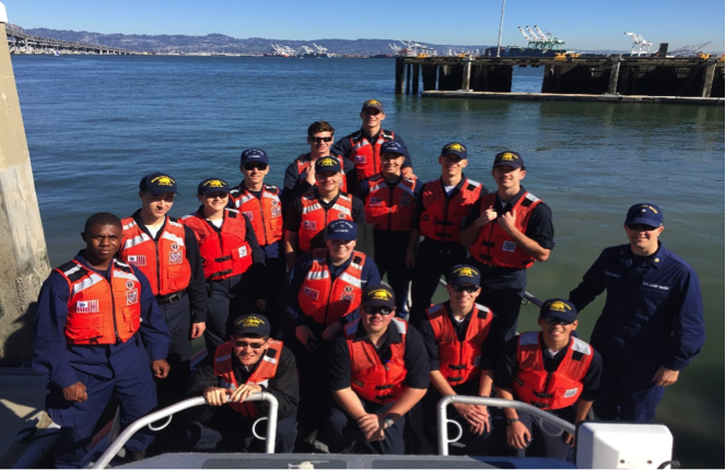 Cadets took a day trip over to Station San Francisco for a bay tour aboard a 45. Cadets were able to talk to the crew about their jobs day to day and learn what it takes to respond to SAR cases and emergency rescues.