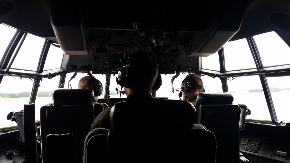 The flightdeck of a HC-130J Hercules