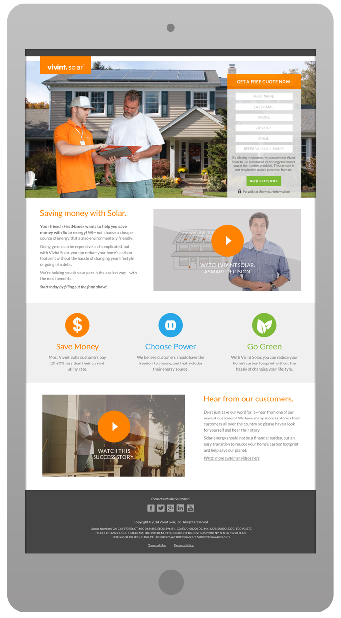 Promotional Landing Page - Lead Generation
