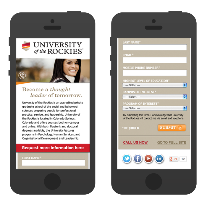 Mobile Site Design - Lead Generation
