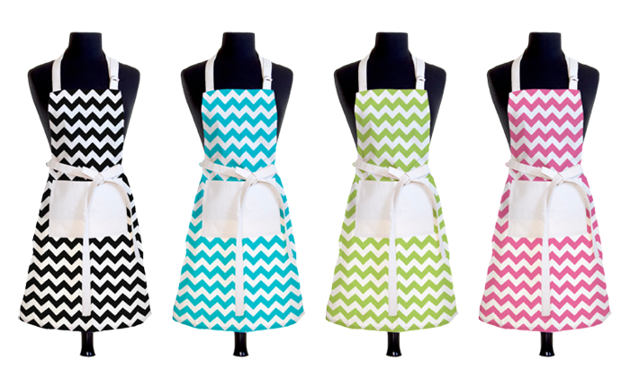 Designer Chevron Aprons - Product Design & Photography