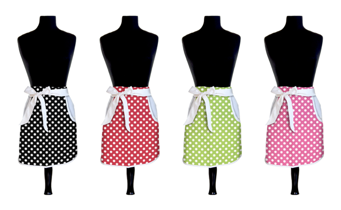 Designer Swiss Dots   Aprons  - Product Design & Photography