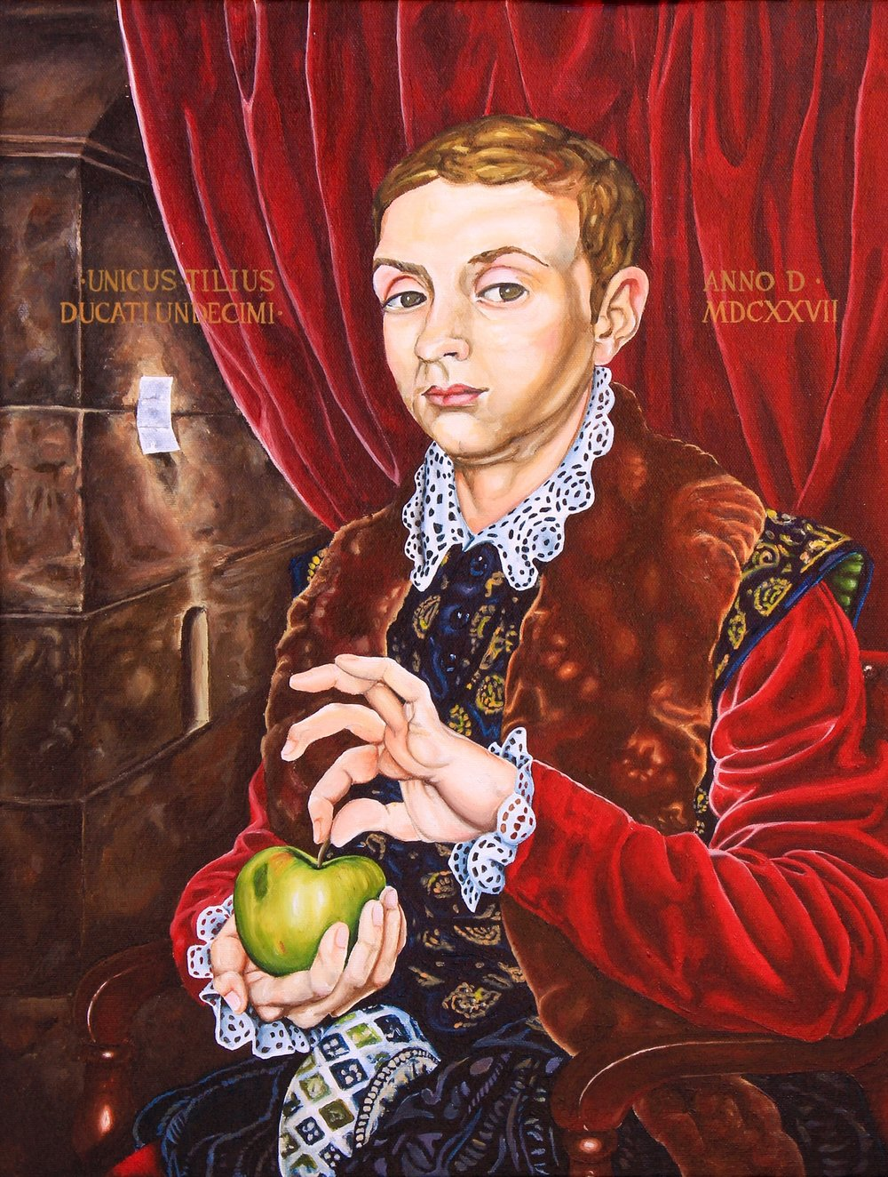 """Recreated """"Boy with Apple"""", 2014"""