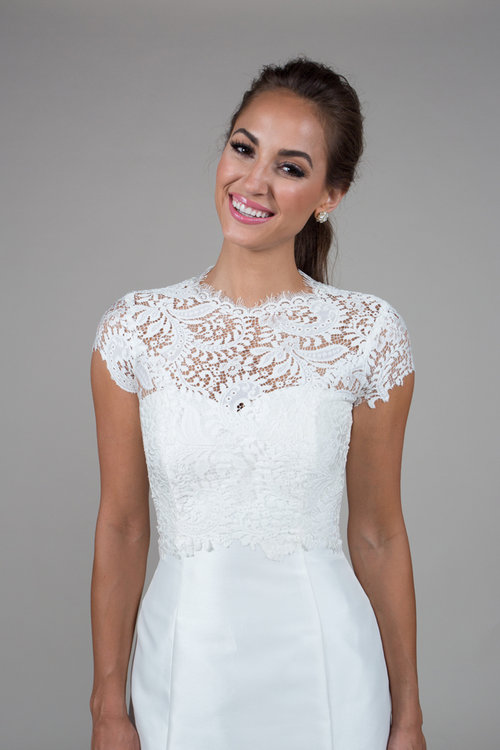 Catherine Cap Sleeve Cover Up Build A Bride
