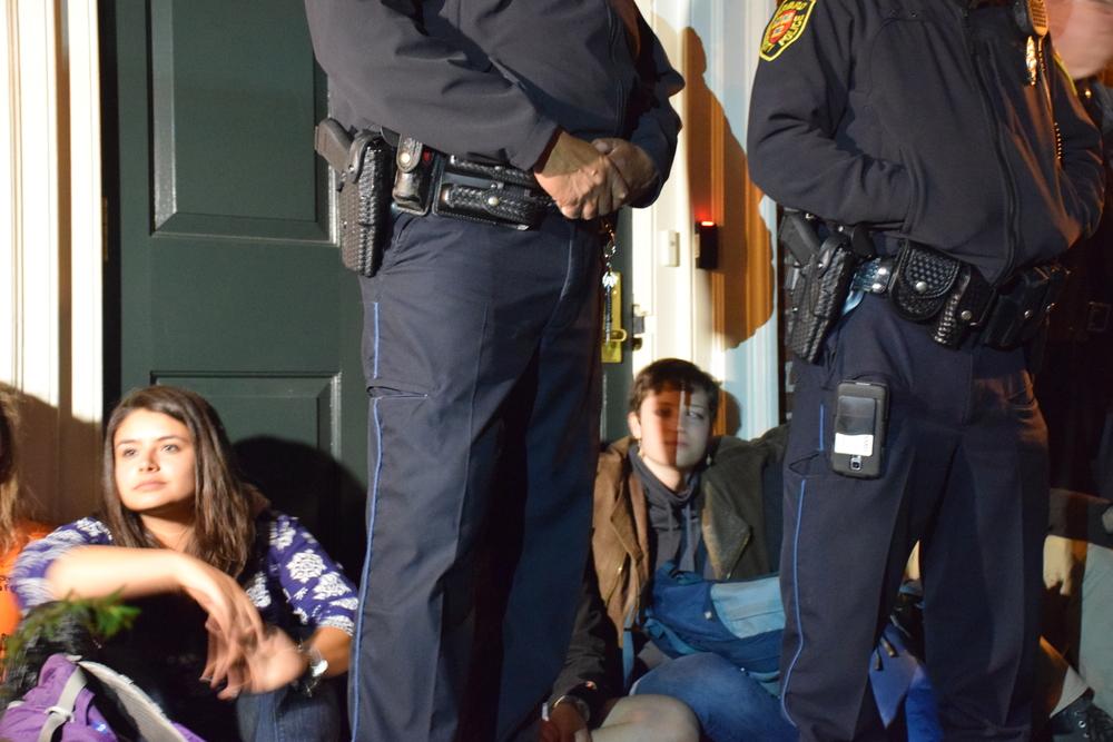 Activist Blockade of Massachusetts Hall, Harvard University, April 2015