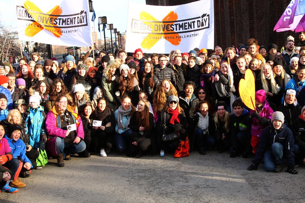 Divestment Rally, Stockholm, Sweden, April 2015