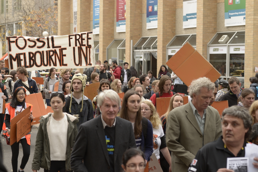February 2015, Divestment rally, Melbourne University, Australia