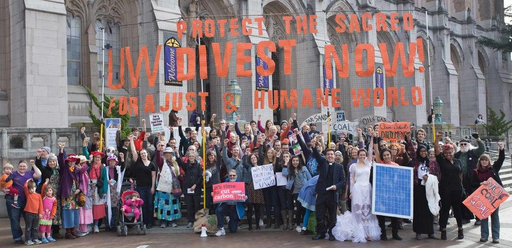 University of Washington Divest Rally, 2015