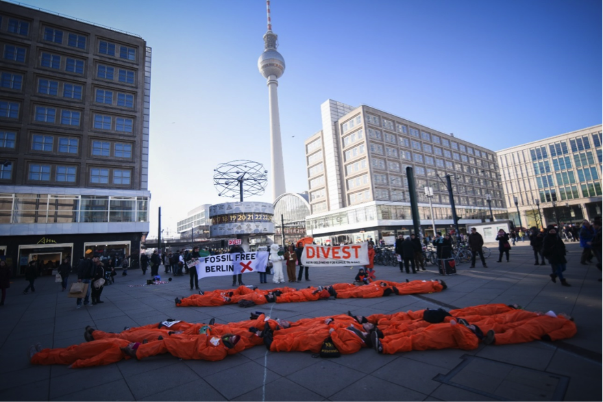 Berlin, divestment protest, February 2015