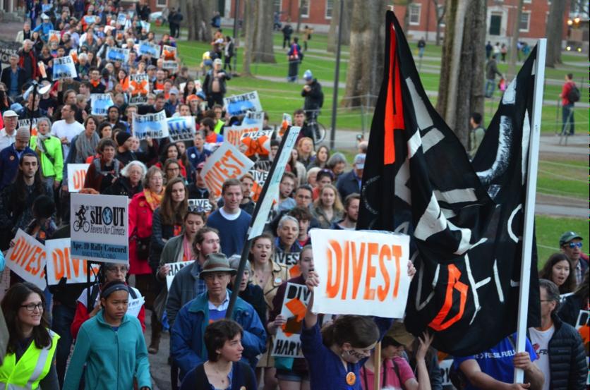 Harvard, USA, Divestment rally, April 2015
