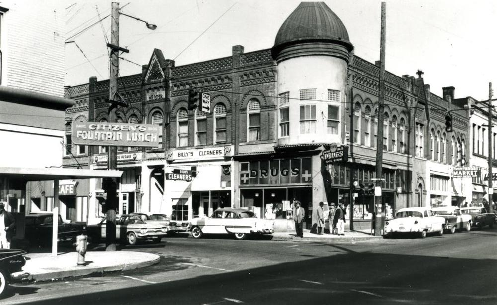 """Fabled corner of North Russell Street and Williams Avenue when it was heart of a thriving black community"""