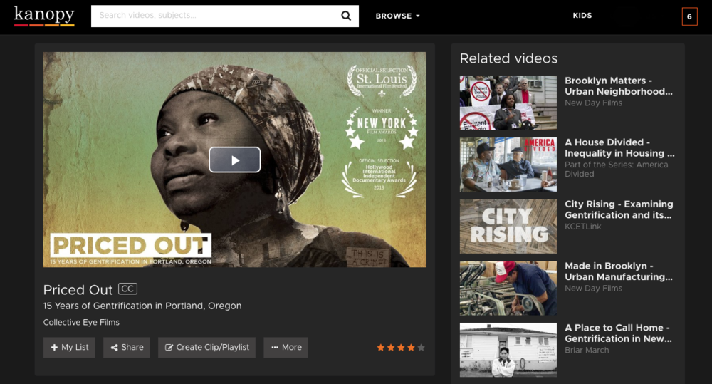 priced out, gentrification, displacement, documentary, kanopy, streaming, african american, portland, oregon, housing, affordable, social justice,